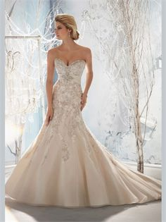Mermaid Beading Sweetheart Sash Lace Organza 2013 Wedding Dresses