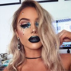 DIY DARK METALLIC LIPS  using @anastasiabeverlyhills 'Midnight' liquid lipstick + @artistcouture 'Mermaid Fantasy' highlight - use code 'bybrookelle' for 15% off  Wearing @thelashstorehq 'Chloe' and 'Giselle' - use code 'BYBROOKELLE' for $$$ off ______________________________________________________ I so wish the clear iridescent green sequins actually showed up, but battling the bright natural light and iPhone quality photos, it didn't do as much!  I hope you like nonetheless - I live ...
