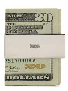 Bacon money clip by Jack Spade