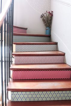 37 Amazing Stairs Design Picture you Must See House Design, Deco, Home Decor, Diy Déco, House Interior, Home Deco, Painted Stairs, Stairs Design, Stairs