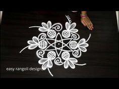 Simple Rangoli Designs Images, Rangoli Kolam Designs, Colorful Rangoli Designs, Kolam Rangoli, Easy Rangoli, Art Forms Of India, Free Hand Rangoli Design, Rangoli With Dots, Ancient Art