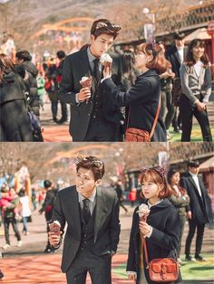 "Park Bo Young Drags Park Hyung Sik Around An Amusement Park In Adorable ""Strong Woman Do Bong Soon"" Stills 