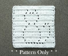 Crochet CAT Pattern for Baby Blanket Square, Afghan / Quilt Block, Dishcloth, Wash Cloth, PDF Cat Crochet Pattern, Easy Pattern, 8x8""