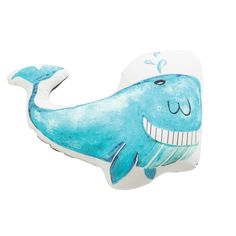 Happy whale novelty pillow - 10 Adorable Kids Cushions | Tinyme Blog