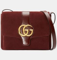78f1df68b6fb Gucci Arli Medium Shoulder Bag in Bordeaux Suede Gucci Shop, Gucci Spring,  Vintage Gucci