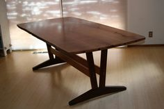 Wood table by Robin Cash Custom Woodworking & Design. More info here:  http://santacruzconstructionguild.us/robin-cash-custom-woodworking-design