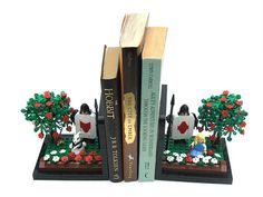 Alice in Wonderland Lego Book-Ends