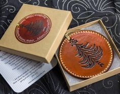 leather christmas ornament patterns - Google Search