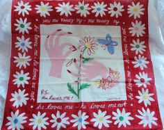 Very Rare Carl Tait Handkerchief. No rips or tears or loose threads. What a great find for the Hanky collector. Measures 16 1/2 by 16 1/2 bright