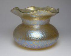 Art Nouveau Loetz papillon glass vase