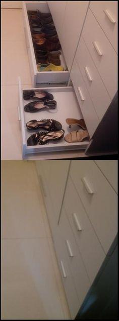 Don't suffer looking for shoes  behind, add a drawer!  No sufras buscando el calzado del fondo, instala una gaveta!