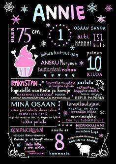 Liitutaulu cupcake - Dia Design - Adia