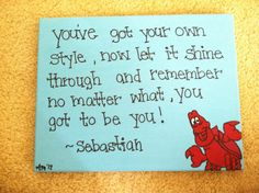 Items similar to The Little Mermaid (Sebastian) Canvas Quote (made to order) on Etsy Little Mermaid Quotes, The Little Mermaid, Disney Merch, Little Mermaid Sebastian, Disney Collection, Mermaid Room, Mermaid Canvas, Mermaid Nursery, Mermaid Lagoon