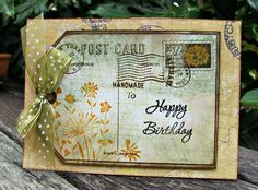 Scottie Crafts Blog: More Inspiration by Dawn Turley Hero Arts Postcard background