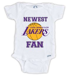 7fabe9a29 Newest LAKERS Fan Baby Onesie by JujuApparel on Etsy Baby clothes
