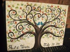 fingerprint tree guest book by ingrid