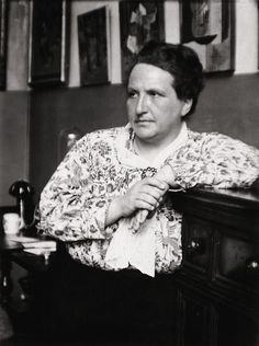 Gertrude Stein Gertrude Stein (February 3, 1874 – July 27, 1946) was an American writer of novels, poetry and plays. Born in West Allegheny (Pittsburgh), Pennsylvania and raised in Oakland, California, Stein moved to Paris in 1903, making France her home for the remainder of her life. A literary innovator and pioneer of Modernist literature, Stein's work broke with the narrative, linear, and temporal conventions of the 19th-century. She was also known as a collector of Modernist art.