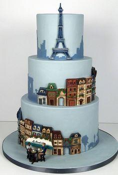 Paris Themed Wedding Cake.