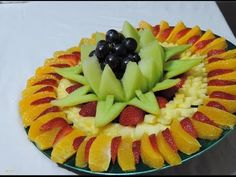 Fruit center, how to make... By J.Pereira Art Carving Fruit - YouTube