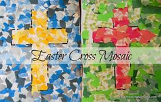 Easter cross mosaic craft