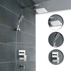 "Wall Mounted Bathroom with Handheld Shower Rainfall 8"" Shower Head Faucet Set , Chrome Ys 7028 Detroit Bathware -Chrome Shower Faucet http://www.amazon.com/dp/B008MGLN0A/ref=cm_sw_r_pi_dp_3TCVtb060ZQBDZYS"
