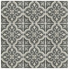 SomerTile 8x8-inch Cavado Black Ceramic Floor and Wall Tile (Case of 25)