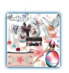 """Pastel Butterfly Beauty Set"" by freshstart60 ❤ liked on Polyvore featuring bellezza, NYX, Christian Louboutin, Giorgio Armani e Missoni"