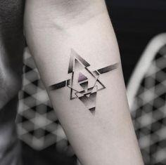 Geometric tattoo by Balazs Bercsenyi