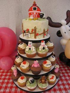 Cutest little barn yard cakes