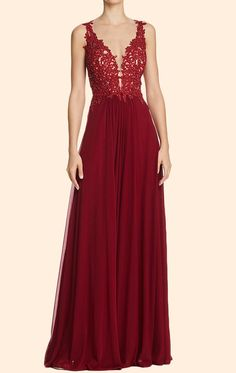 Lace Straps Deep V Neck, Long Prom Dress Burgundy, Formal Evening Gown ,Simple Prom Gown,Sexy Formal Evening Dress,Custom Made