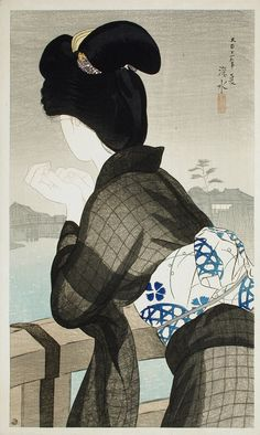 Ito Shinsui, Evening Cool, 1922 (source).