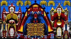 Gilbert & George /// 2005 /// Fates (Les parques) /// 426 x 760 cm Contemporary Artists, Modern Art, Tate St Ives, Pop Art, Gilbert & George, Christian Marclay, Digital Prints, Digital Art, Exhibition Room
