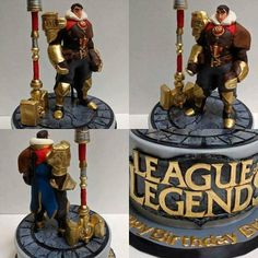 League of Legends Jayce cake: making of of legends cake League Of Legends, Armor All, Paw Patrol Cake, Fashion Cakes, Birthday Messages, Cake Tutorial, Fondant Cakes, Cake Creations, Gold Paint