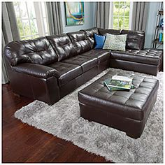Simmons® Manhattan 2-Piece Sectional | Big Lots  123x37 for $699 plus $199 for the Ottoman