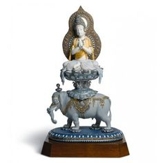 Lladro Porcelain Figurine Wisdom Of Buddha Herend China, Buddha, Art Forms, Lion Sculpture, Spirituality, Wisdom, Ceramics, Statue, Hinduism