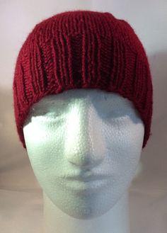 Unisex Beanie Red Wool Hat Knitted Beanie Basic Beanie