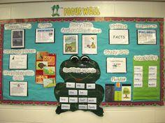 Mrs. Langston's focus Wall using Open Court