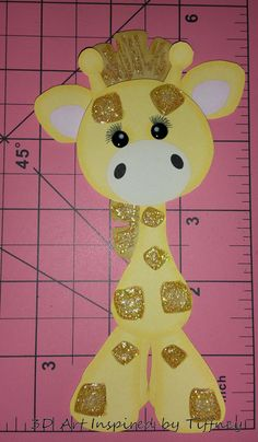 B078 3D Hand Cut Paper Piecing Jungle Giraffe Zoo Scrapbook Cardmaking - Pre-Made Pages & Pieces