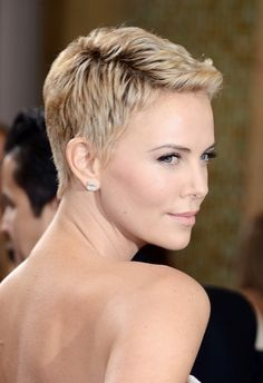 2013 Summer Hair Ideas: Charlize Theron Short Pixie Haircut