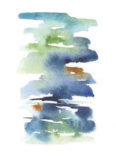 Watercolor Landscape Paintings, Watercolor Paintings Abstract, Painting Art, Abstract Watercolor Tutorial, Watercolor Artists, Painting Lessons, Abstract Oil, Watercolor Beginner, Illustration