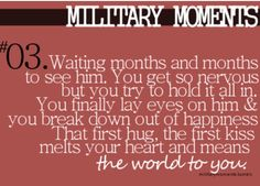 This moment was so perfect. It didn't even seem real to me. Seemed too good to be true after not seeing him for so long--Military moments Military Quotes, Military Love, Army Love, Army Quotes, Army Sayings, Marine Quotes, Country Sayings, Military Pictures, Military Humor