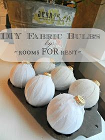 ~rooms FOR rent~: DIY Fabric Christmas Bulb