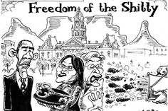 Zapiro: Obama's visit with Zille - Mail Guardian First Love, My Love, No One Loves Me, Obama, Cartoon, Comics, Memes, Image, First Crush