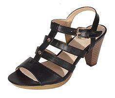 Damen Plateau Pumps Sandalen Sandalette High Heels Pantolette Römersandale BLACK Gr. 37 – 41 - Sandalen für frauen (*Partner-Link)