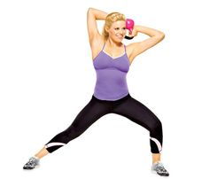 Nine Slimming Kettlebell Moves: Work shoulders, arms, back, abs, butt, thighs, AND hamstrings with this 'Halo Effect' move #SelfMagazine