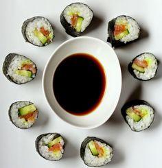 Kuch.com.pl: CIENKIE ROLADKI SUSHI Sushi, Ethnic Recipes, Food, Essen, Meals, Yemek, Eten, Sushi Rolls