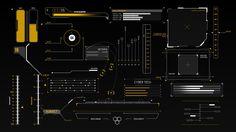 HUD Infographics Elements on Behance