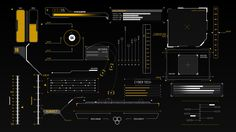 HUD Infographics Elements on Behance