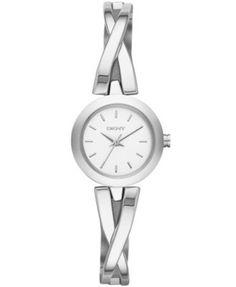 DKNY Women's Crosswalk Stainless Steel Half-Bangle Bracelet Watch 20mm NY2169 | macys.com