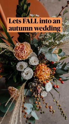 Fall Wedding Centerpieces, Fall Wedding Bouquets, Autumn Wedding, Boho Wedding Flowers, Floral Wedding, Wedding Colors, Beautiful Flower Arrangements, Wedding Flower Arrangements, Brunch Wedding